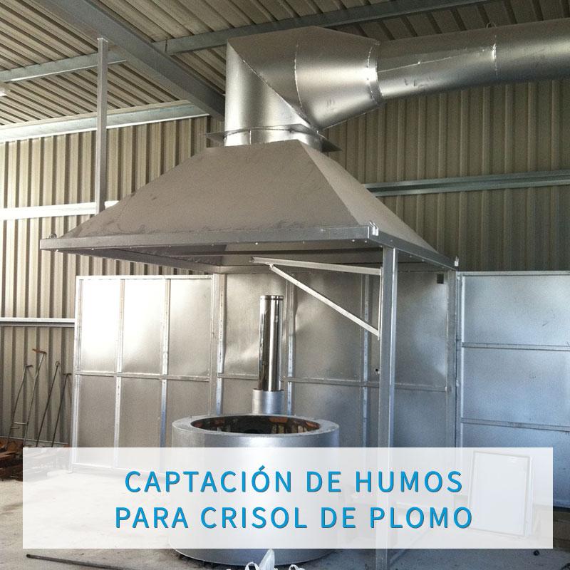 CAPTACIÓN DE HUMOS PARA CRISOL DE PLOMO