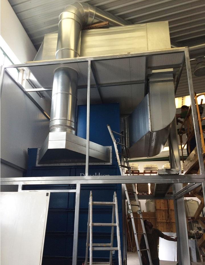 filtro Donaldson para filtrar partículas en atmósferas explosivas