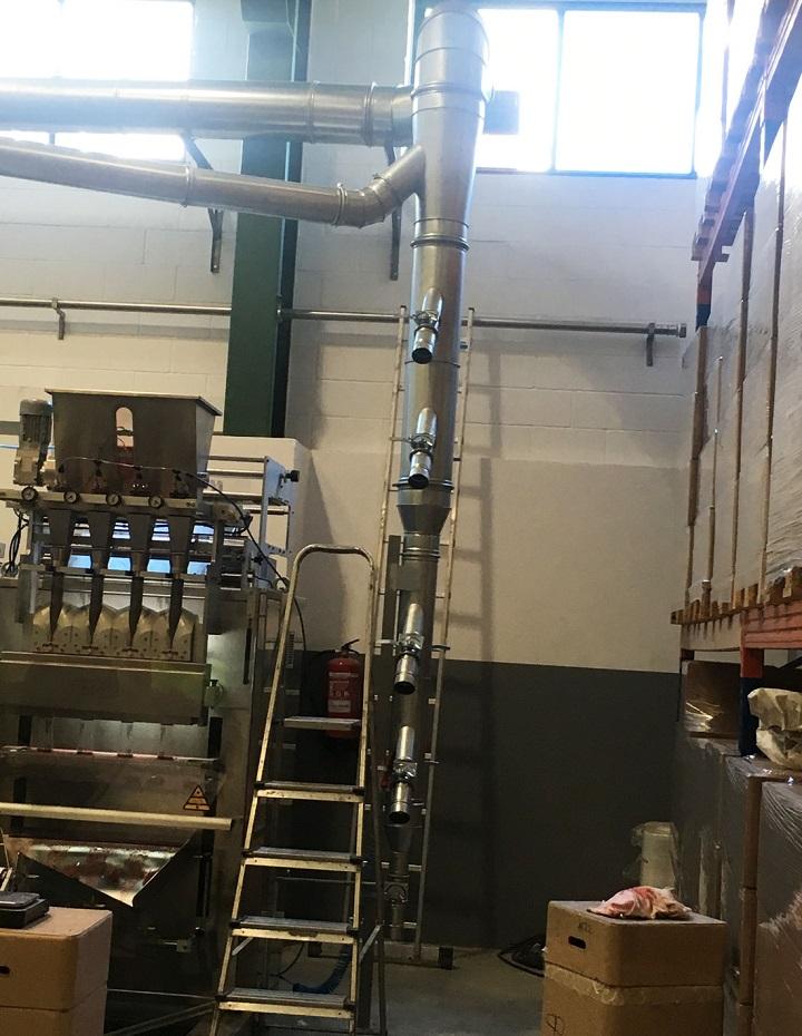 equipo de captación ATEX para el filtrado de partículas