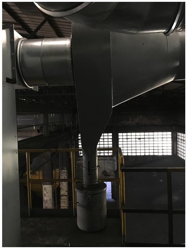 sistema de filtrado de partículas que permite mantener las emisiones de polvo