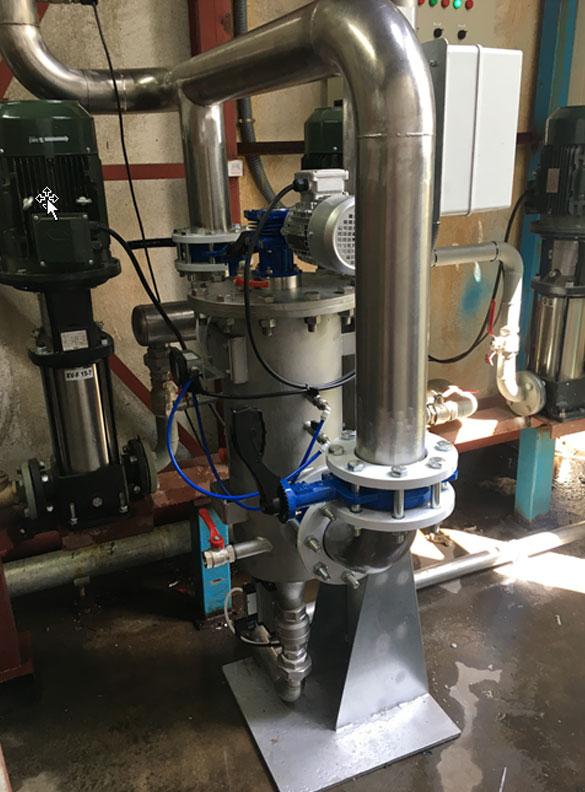 limpieza del agua con un mantenimiento mínimo
