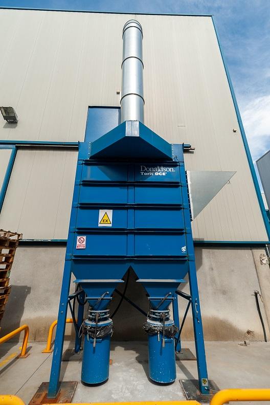 instalación de filtros donladson para la captación de humos