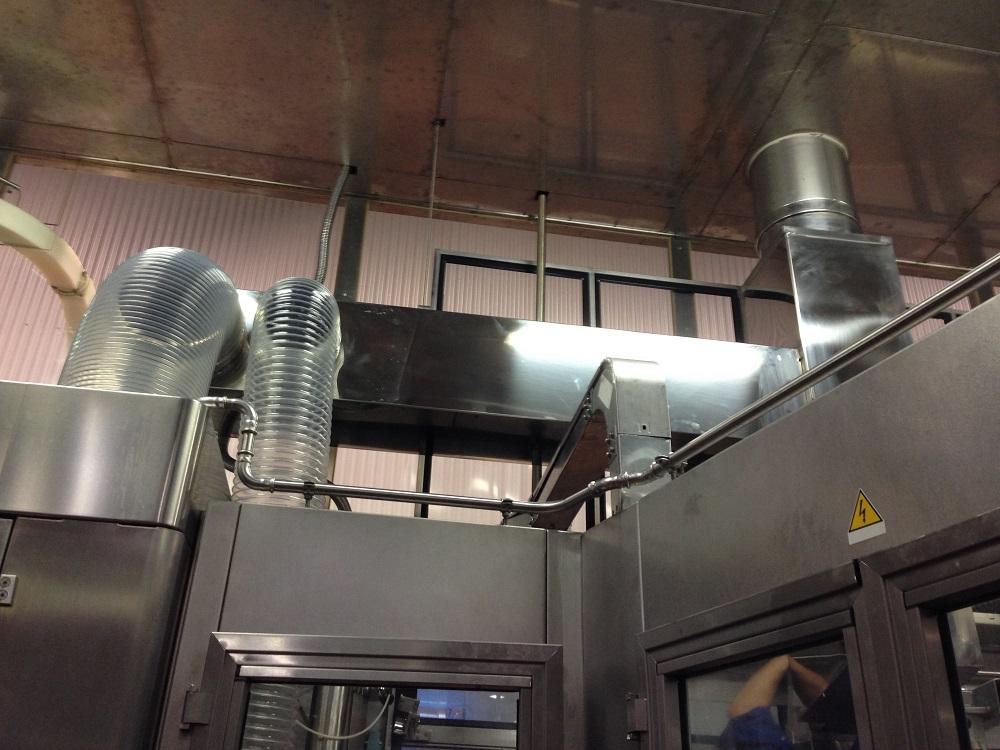 ventilación de sala de envasado