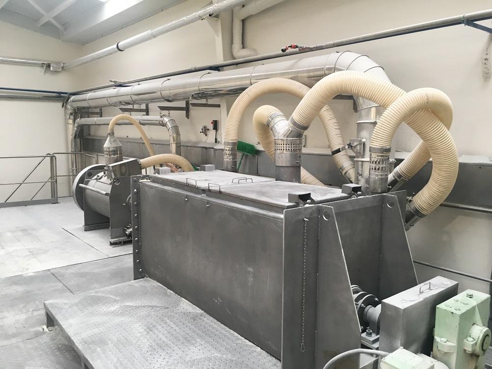 Captación de harina en líneas de producción y envasado