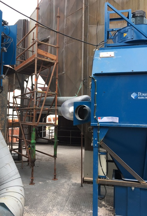 Captación de cerámica en reparación de hornos