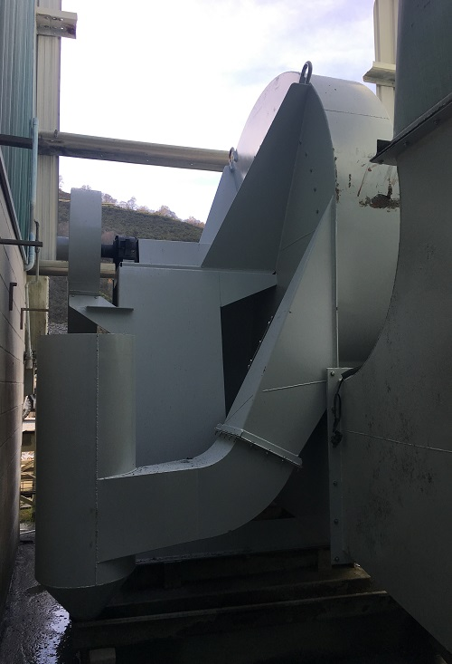 Captación de polvo vía húmeda producido por corte de pizarra mediante sierras