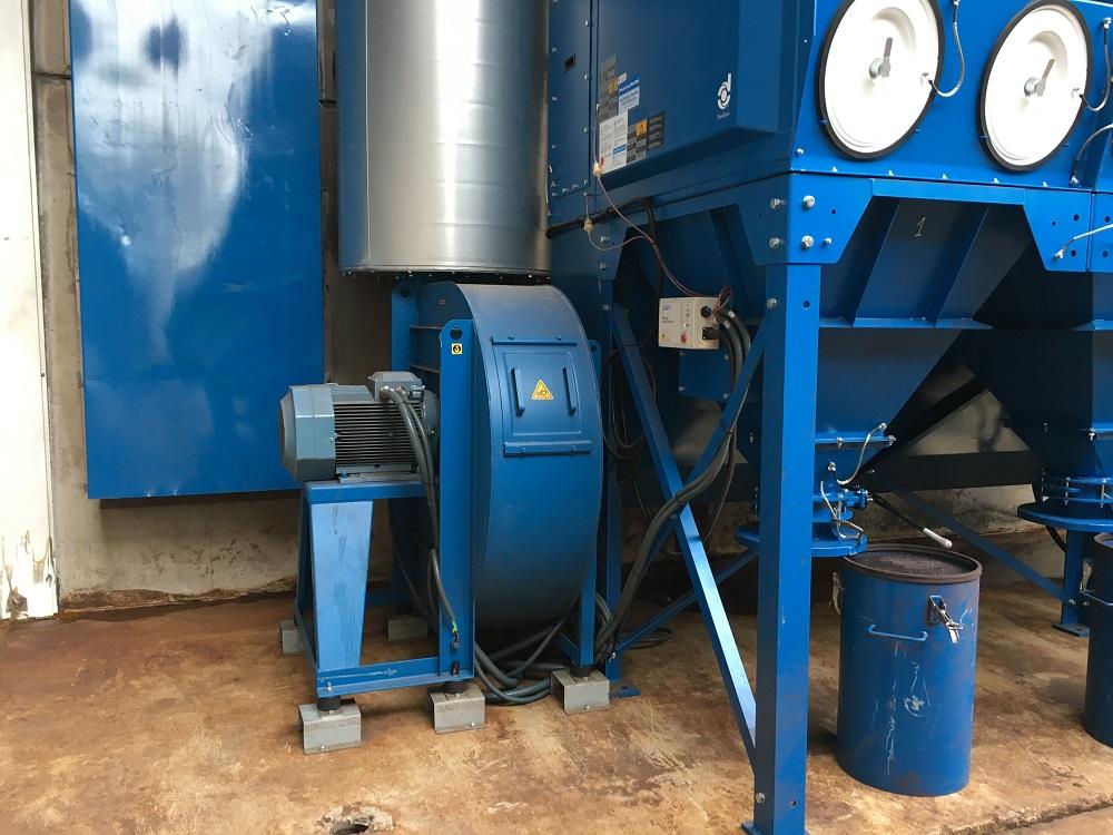Instalación de cabina de granallado