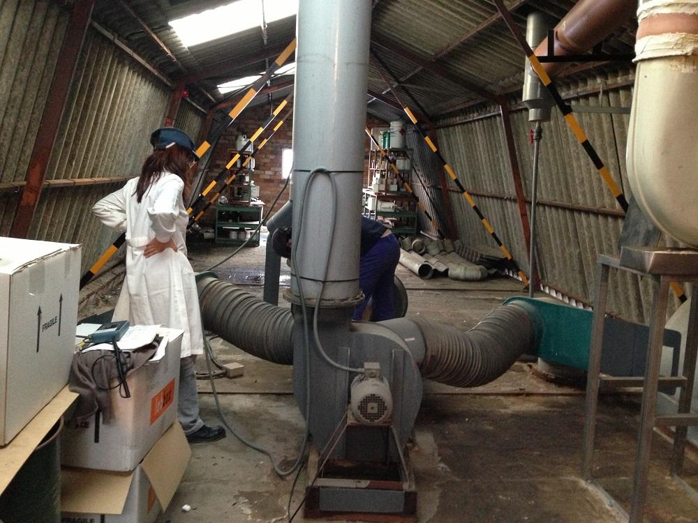 Ampliación del caudal de aspiración de las cabinas del laboratorio ATEX